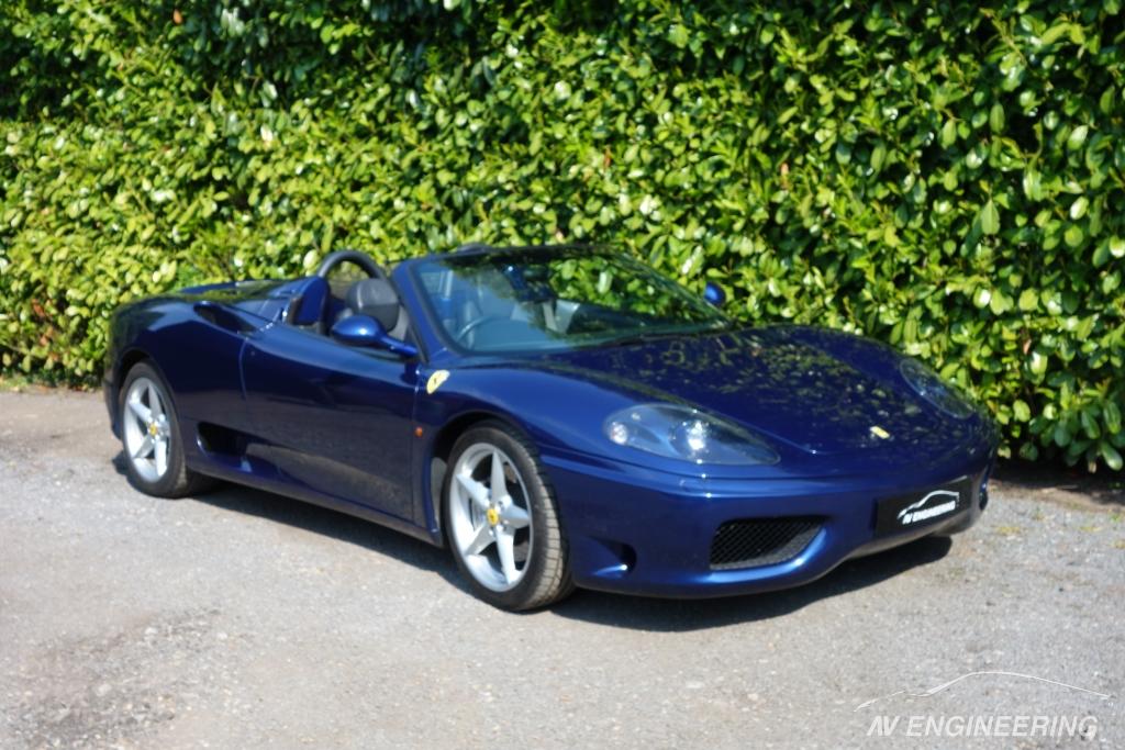 Ferrari 360 Manual Spider Blue Tdf Av Engineering